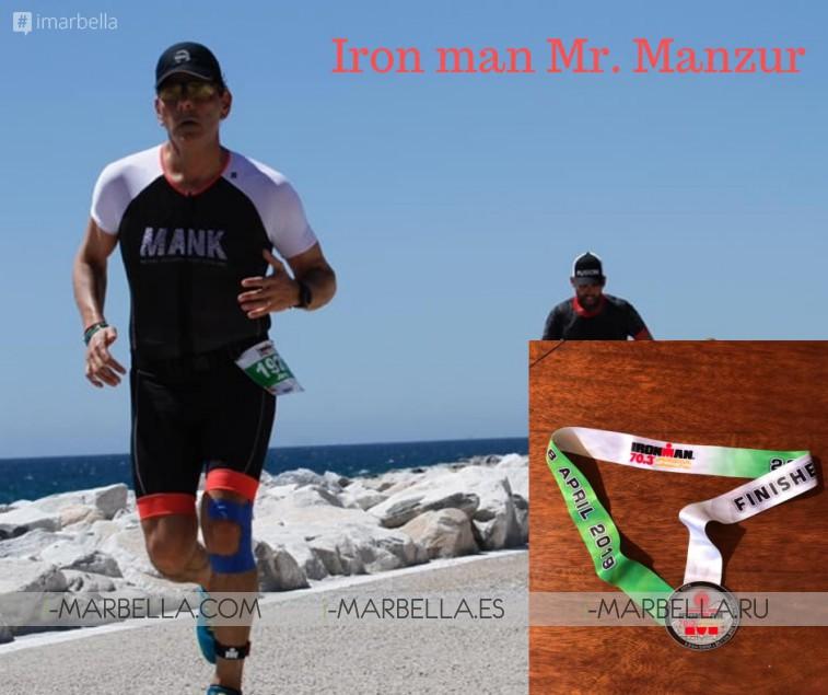 Ironman Mr Manzur finished 70.3 Ironman Marbella 2019