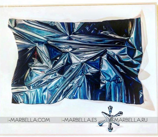 The Gallerist Ursula Salvador introduce Marcos Marin, artist of Prince Albert of Monaco to Hollywood star Michael Douglas @Monaco 2019