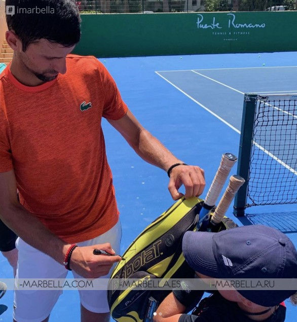 Novak Djokovic back in Marbella for Holidays with Jelena and training @Puente Romano Marbella 2019
