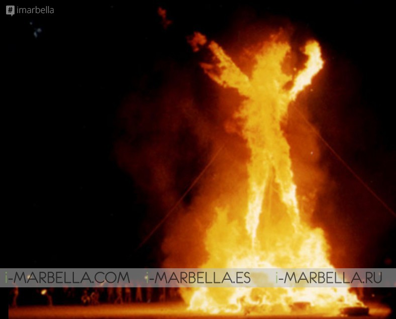 The greatest festival of America 'Burning Man' for the first time @El Chiringuito Marbella 24 August 2019