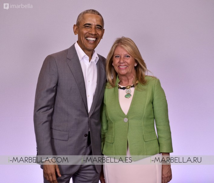 Former US President Barack Obama Short Visit to Puente Romano @Marbella 2019 Photos