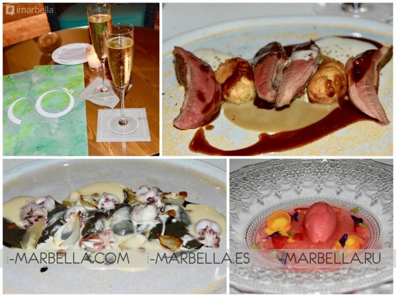 Annika Urm food review: Restaurant 'O' by Paco Roncero Suprise Millennial Olive Tree @ Anantara Villa Padierna Palace Hotel, 2019