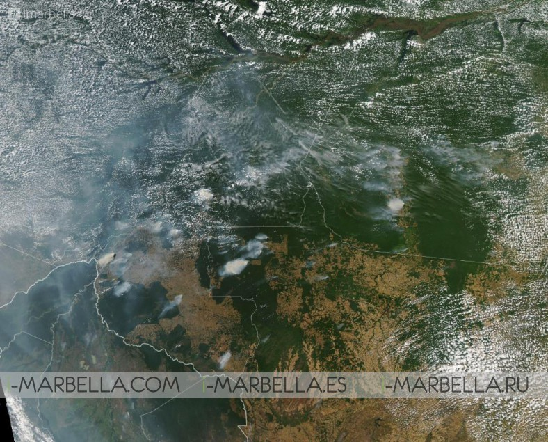 The Fire in the Amazonia Spread in August 2019 Pictures