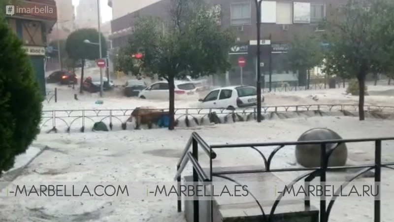 Extensive flood paralyzes Madrid on August 26th 2019