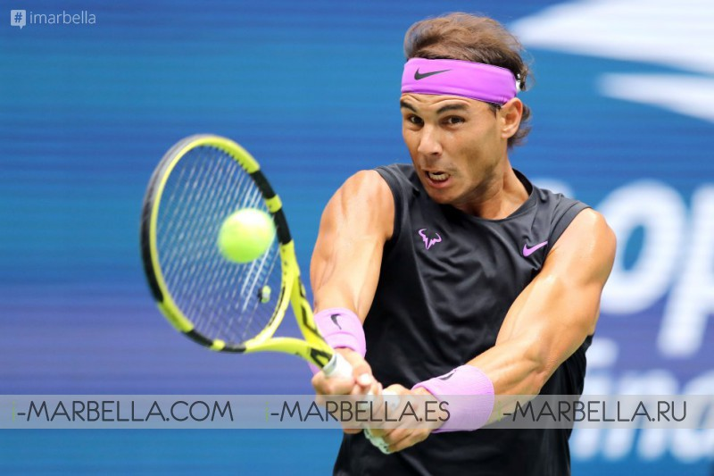 Nadal raises his 19th title at the US open @ New York, USA 2019