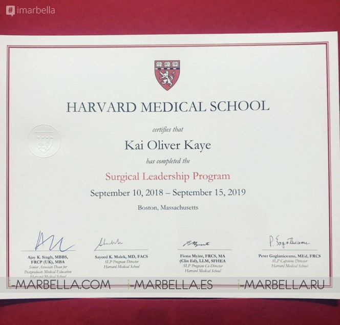 Harvard Surgical Leadership graduate Dr. Kaye Success 'Motto'  Love What You Do – Every Day! @iMarbellacom Interview 2019