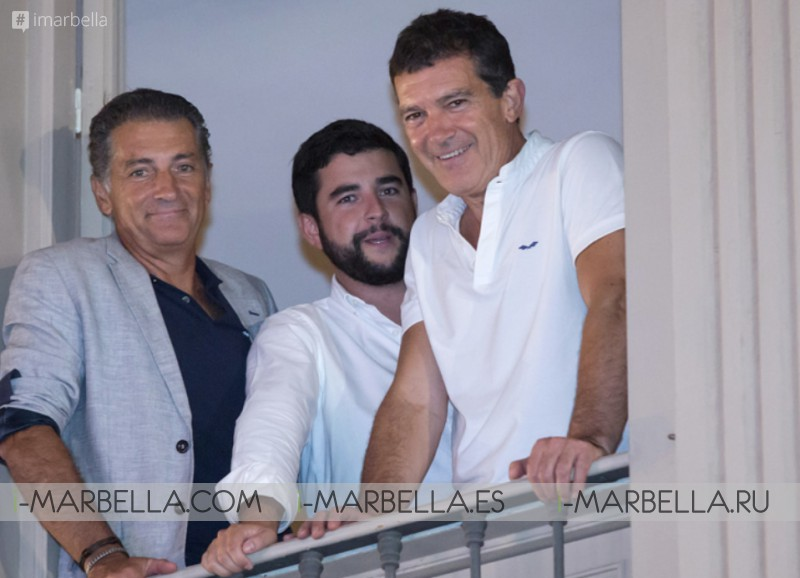 Antonio Banderas excited for Nicole Kimpel first catwalk @Pasarela Larios Málaga Fashion Week 2019