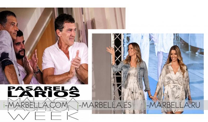 Antonio Banderas excited for Nicole Kimpel first catwalk @Pasarela Larios Málaga Fashion Week 2019