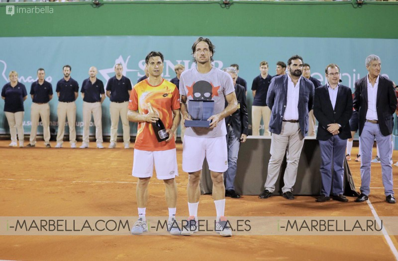 Feliciano Lopez wins against David Ferrer Marbella Senior Masters Cup 2019 @Puente Romano Tennis Club