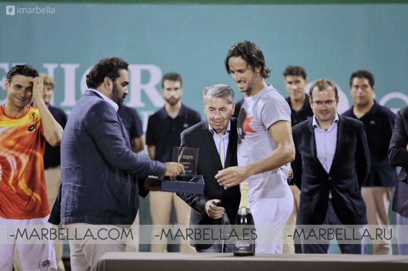 Feliciano Lopez wins against David Ferrer Marbella Senior Masters Cup 2019 @Puente Romano Tennis Club