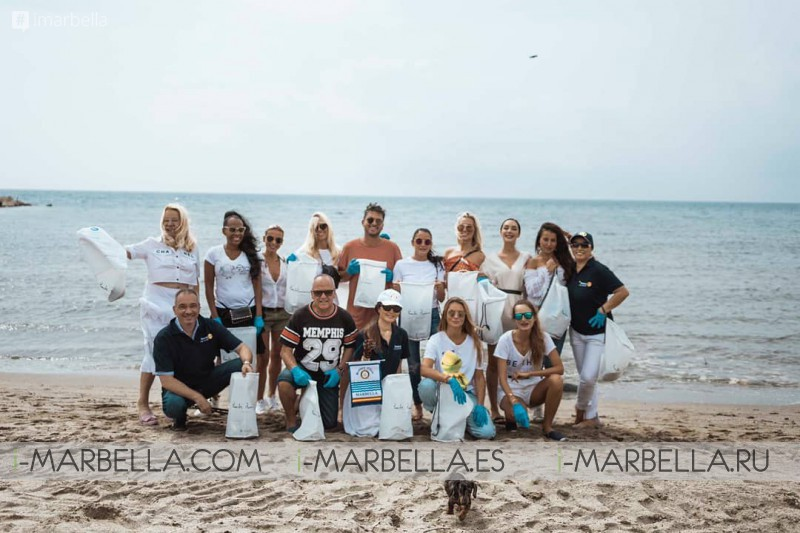 Puente Romano and Rotary Club organized  Plastic Clean Up and Global Climate March @Marbella September 2019