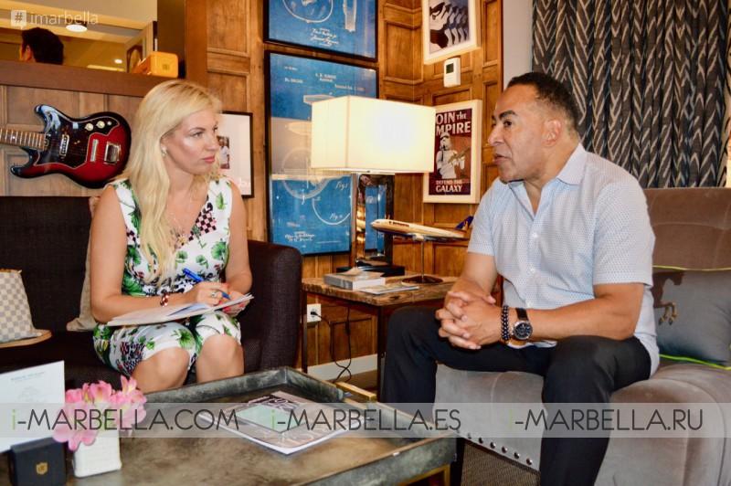 Dr. Kai Kaye, Yanela Brooks, Antonio Banderas, Elisabetta Franchi, Bally Singh, Tim Storey at TOP 10 i-Marbella interviews!