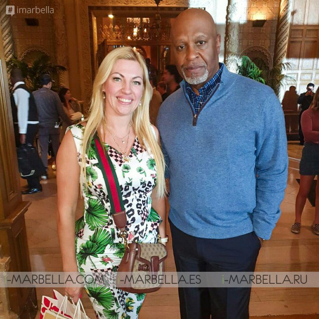 Grey's Anatomy set and a pic with James Pickens Jr.! Annika's 1st day at Los Angeles, USA – November 2019