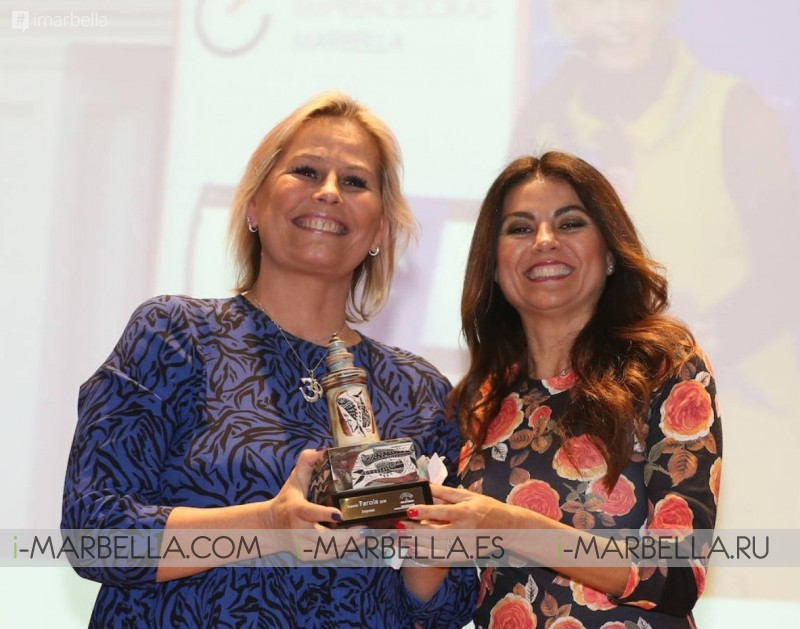 Marie-Noëlle Erize honoured as a leading businesswoman in Malaga at the Farola Awards 2019