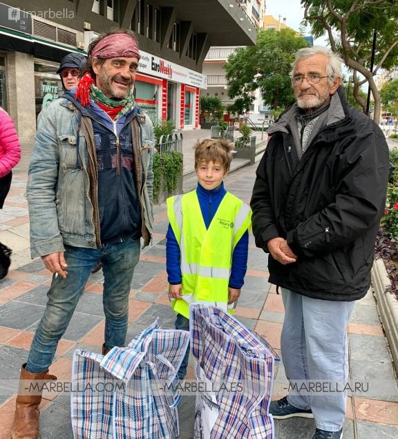 Helping Homeless During Kings Day @Rotary Club Mijas International 7th January 2020.