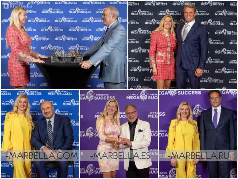 Annika Urm shared the stage with Gary Kasparov, Jay Abraham, Gabriel Macht, Dolph Lundgren, JT Foxx, Vince Vaughn, Moira Forbes, Hugh Hilton, Dr Phil at Mega Success Los Angeles