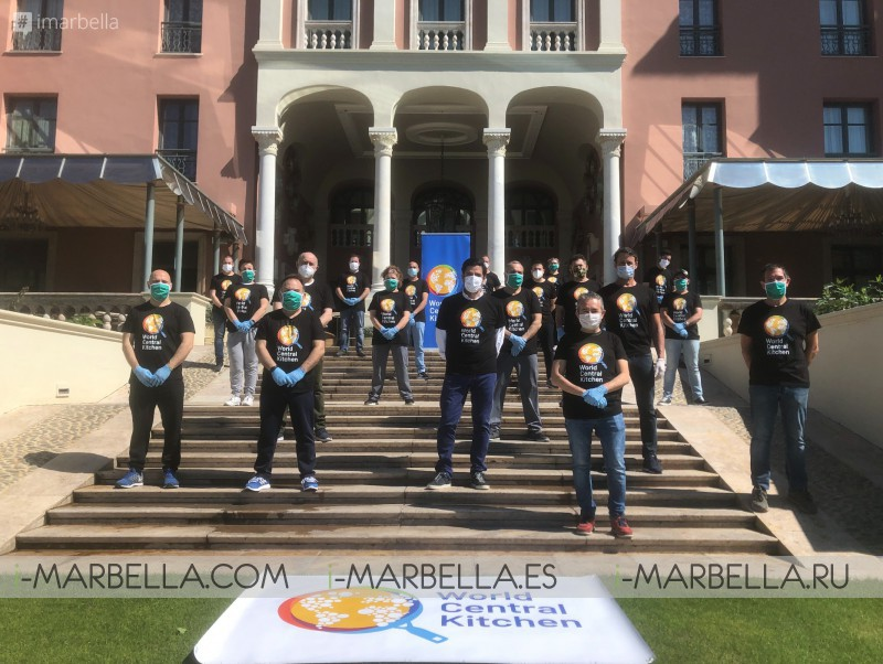 Anantara Villa Padierna Palace, Aitor Perurena with 120 volunteers, prepare daily over 1000 food rations for people affected by COVID-19 @Marbella 2020
