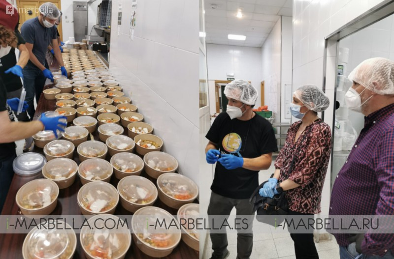 Anantara Villa Padierna Palace,Aitor Perurena with120 volunteers,prepare daily over 1000 food rations for peopleaffected byCOVID-19 @Marbella 2020