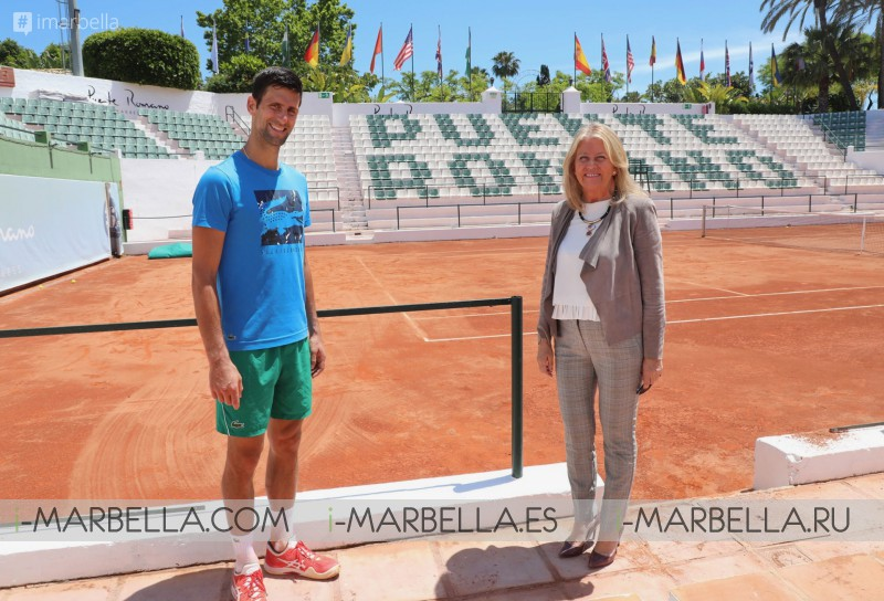 Novak Djokovic Loyal to Marbella, working with Angeles Munoz to get it as Center for Elite National & International Sports @Puente Romano 2020