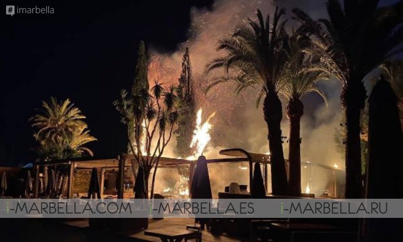 Naô Pool Marbella Beach Club Bust On Fire Before Its Opening @Marbella News May 2020