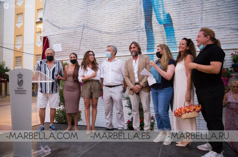 The City Council Recognizes the Philanthropic work of María Bravo by Giving her Name to Square in Estepona