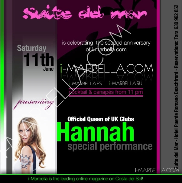 Hannah, la reina de las pistas británicas, llega a Marbella!