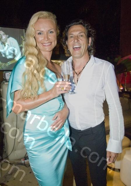 Stephen Webster and Misha Paris at Olivia Valeres, Marbella