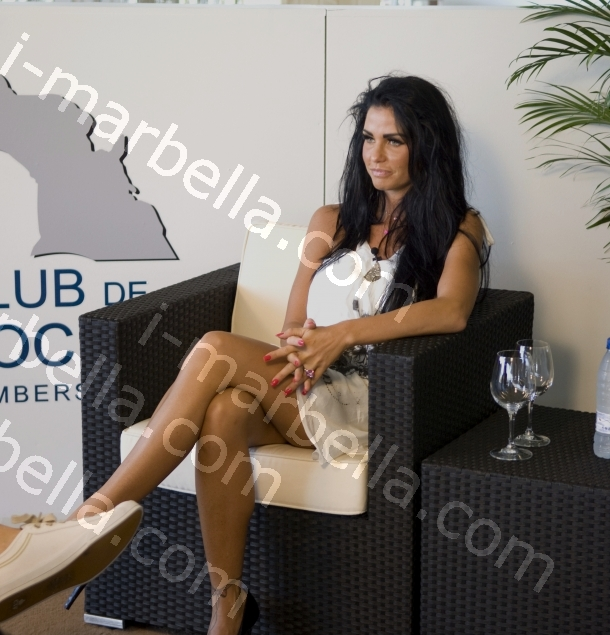 Katie Price Launches Her Polo Range at Santa Maria Polo, Sotogrande, Cadiz.