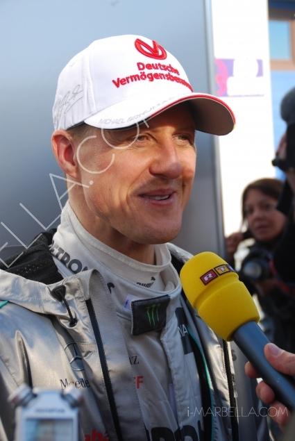 F1 Jerez Test Driving with Michael Schumacher
