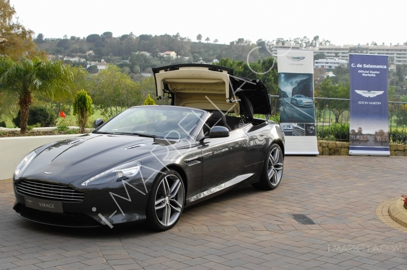 C. de Salamanca in collaboration with Grass Golf presented two Aston Martins: Cygnet and Virage in Marbella