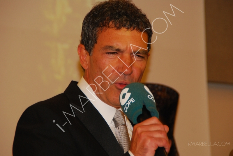Antonio Banderas and Duchess of Alba at the VI Cofrades Awards in Marbella