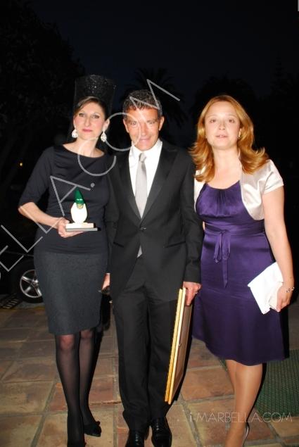 Antonio Banderas and Duchess of Alba at the VI Cofrades Awards in Marbella
