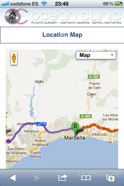 Ocean Clinic's Innovational iPhone Website!