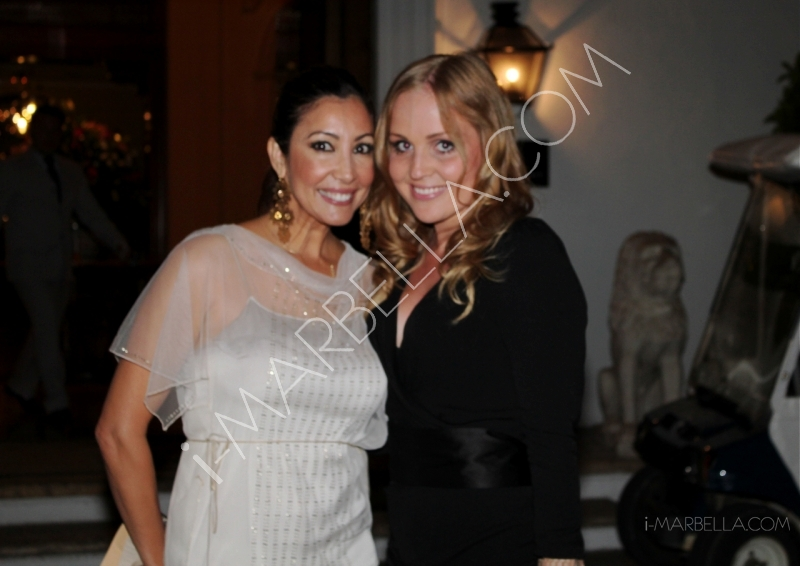 Maria Bravo doing charity in Marbella again with Eva Longoria and organising the Global Gift Gala!