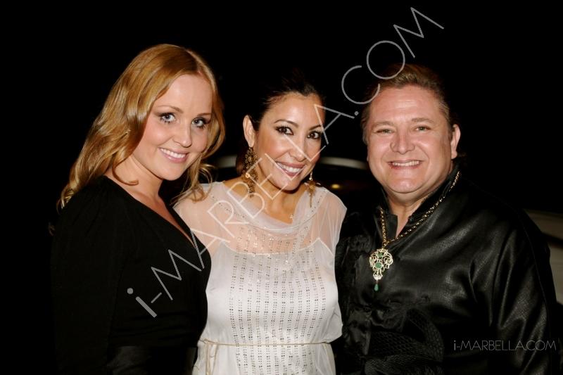 Maria Bravo doing charity in Marbella again with Eva Longoria and organising the Global Gift Gala!