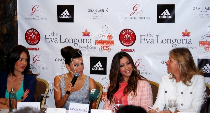 Press Conference of the Global GIft Gala and Dynamic Walk-a-Thon with Eva Longoria in Marbella