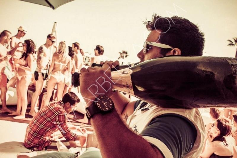 Ocean Club Champagne Spray Party in Marbella