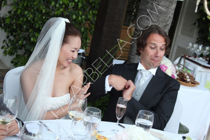 Wedding dinner of Saeko Hamada & Alessandro Della Morte in Villa del Mar