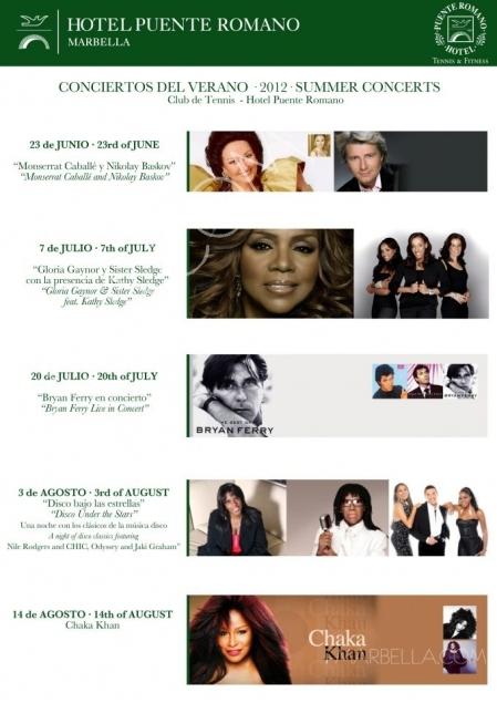 Costa del Sol Concerts for Summer 2012